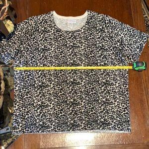 Vintage Size XL. Short sleeve sweater gray/Black